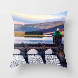 Medieval Dam of the Elan Valley of Wales Throw Pillow