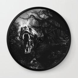 Black and white Jurassic period Wall Clock