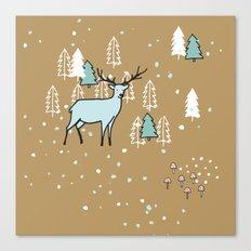 Scandinavian reindeer Canvas Print