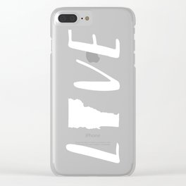 Love Vermont - Black and White Clear iPhone Case