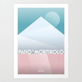Passo di Mortirolo / Cycling Art Print