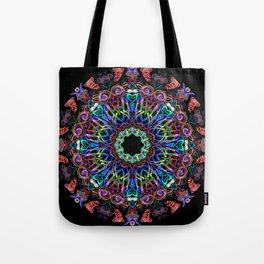 LED Hoop Mandala w/ Fire Tote Bag