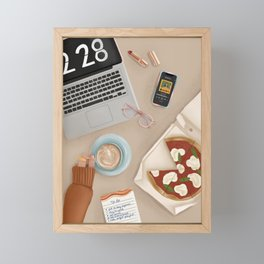 Work from Home Framed Mini Art Print