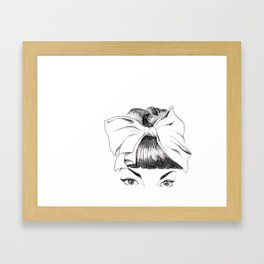 bow tie Framed Art Print