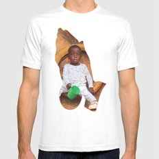 PRAY FOR AFRICA Mens Fitted Tee SMALL White