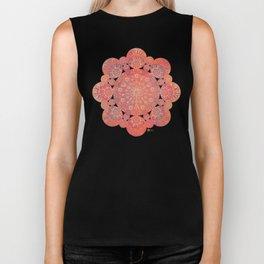 """Coral & Rosewood Mandala (pattern)"" Biker Tank"