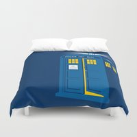 tardis Duvet Covers featuring TARDIS by Digital Arts & Crafts by eXistenZ