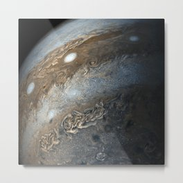 Storms on Jupiter from Juno Cam (2017) Metal Print