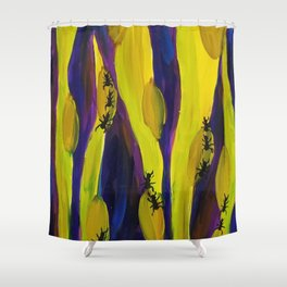 Through the Grass is Ants Shower Curtain
