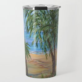 Heading to The Beach 2, Impressionism tropical beach art Travel Mug