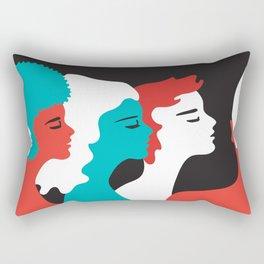 Gender PRIDE LGBT LGBTIQ QUEER FEMINIST FEMINISM ACTIVISM ACTIVIST Rectangular Pillow