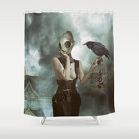 lovers Shower Curtains featuring Lovers by Flo Tucci