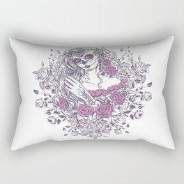 Sexy Woman zombie WITH Flower - KOBI Rectangular Pillow