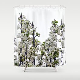 Bradford Pear Blossoms  Shower Curtain