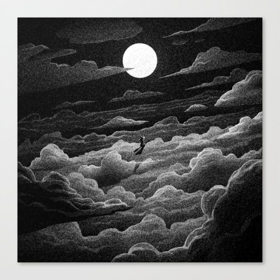 Drawlloween 2016: Witch Canvas Print