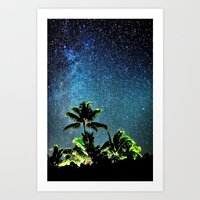 "night sky Art Prints featuring NigHt SkY  by ""CVogiatzi."