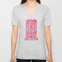 Hawa Mahal – Pink Palace of Jaipur, India Unisex V-Neck