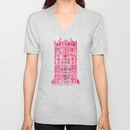 Hawa Mahal – Pink Palace of Jaipur, India Unisex V-Neck