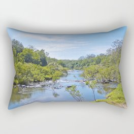Beautiful tranquil river in the tropics Rectangular Pillow