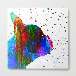 Frenchie Thinker Metal Print