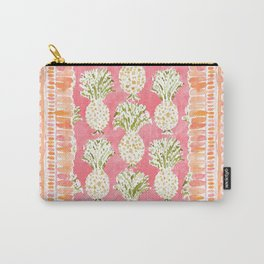 ZESTUAL Peach Golden Pineapples Carry-All Pouch