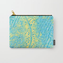 Yellow Fluid Effect Carry-All Pouch