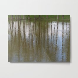 Stream-Side Impression Metal Print
