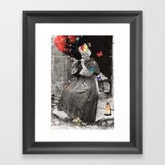 Smoking Woman Framed Art Print