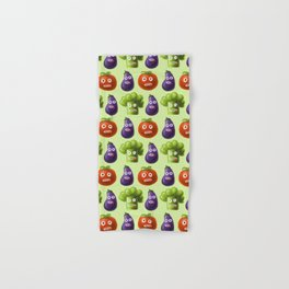 Funny Cartoon Vegetables Hand & Bath Towel