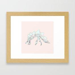 Pastel Stegasaurus Framed Art Print