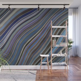 Mild Wavy Lines IV Wall Mural