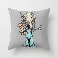 onesie Throw Pillows featuring General Onesie by Albert F. Montoya
