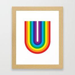 U – Color Framed Art Print