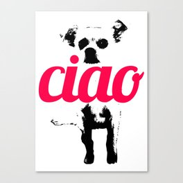Chow says Ciao Canvas Print