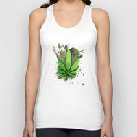 weed Tank Tops featuring Weed Leaf by Spooky Dooky