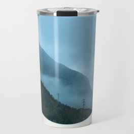 Blue Misty Mountains Travel Mug