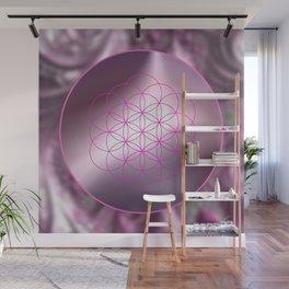 Flower of Life (magenta) Wall Mural