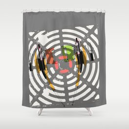 EARPHONES Shower Curtain