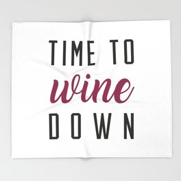 Wine Down Throw Blanket