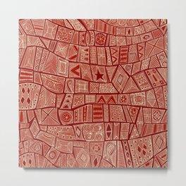 ESHE red mono Metal Print