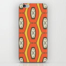 Midcentury Funky Chain Orange iPhone Skin