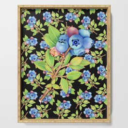 Wild Blueberry Sprigs Serving Tray