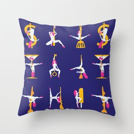 Strippers Throw Pillow