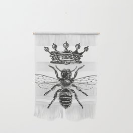 Queen Bee | Black and White Wall Hanging