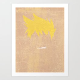 Minimalist Kittan Art Print