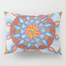 Water and Fire Mandala Pillow Sham