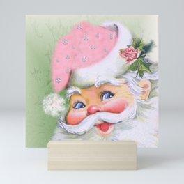 smiling retro Santa Mini Art Print