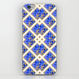 ABSTRACTED BLUE & GOLD PATTERN  CALLA LILIES  DESIGN iPhone Skin