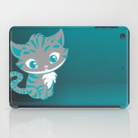 cheshire cat iPad Cases featuring Cheshire Cat by Pixelowska