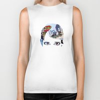 60s Biker Tanks featuring '60s Eyes- Original Color by Katy Rose